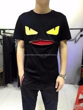 Camisa masculina fitness brand clothing lover t-shirt fend small eye zipper mouth anime pokemon hip hop
