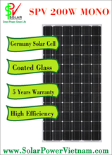 High efficiency 200W mono solar module