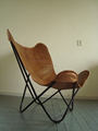 classical leather butterfly chair