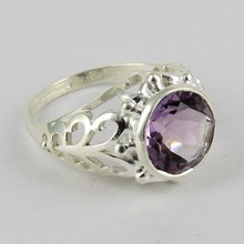 New Offer Price Beautiful Purple Amethyst Gemstone Ring 925 Silver Sterling Indian Jewelry