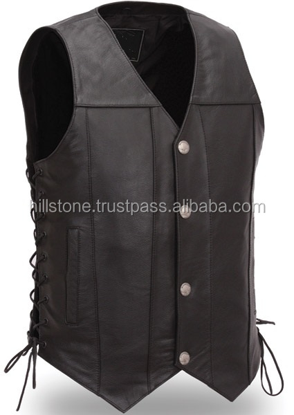 Classic Bike Jacket, Top Quality Leather Motorcycle Vest type Jacket, Biker New Style Chopper