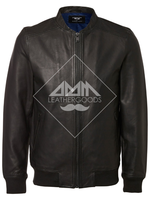 Genuine Leather Jacket Casual Basic Ripped