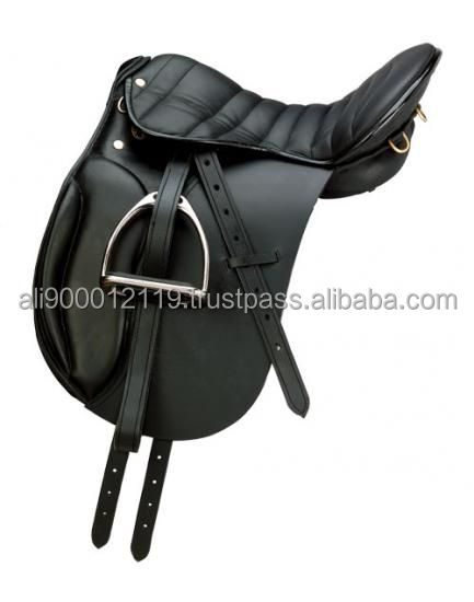Leather Dressage saddle with quilted seat