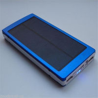 10000mAh Portable Solar Power Bank Charger Mobile Battery for Sony OPPO Adapter