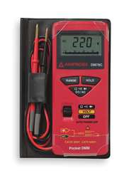 Pocket Digital Multimeter 600V 34 MOhms