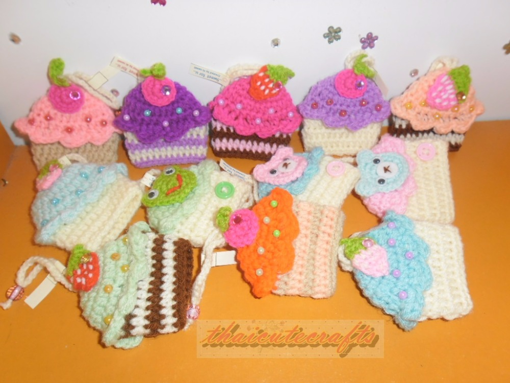 cupcake handmade key covers