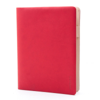 Leather planner organizer agenda size A5 notebook with cover made from Italian PU leather