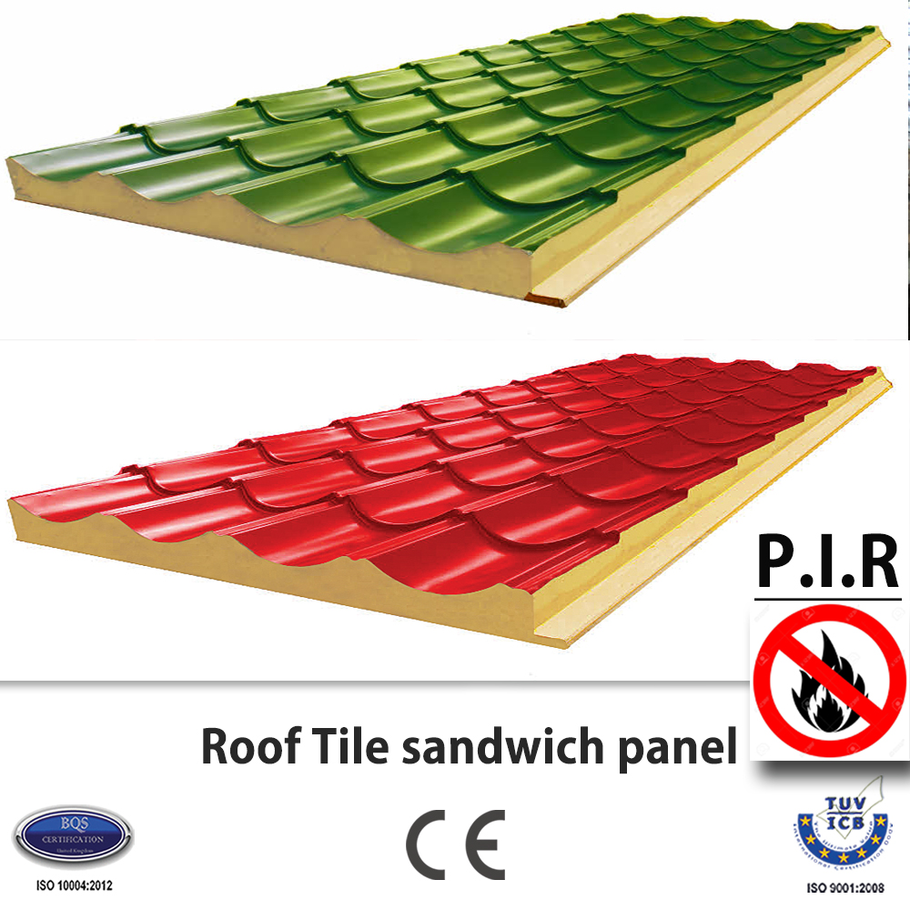Roof Tile PIR sandwich panel