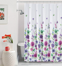 white linen shower curtain