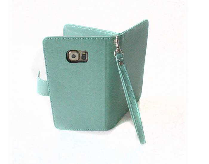 Business Style Wallet Phone Bag PU Leahter Case With Multi Card Slots