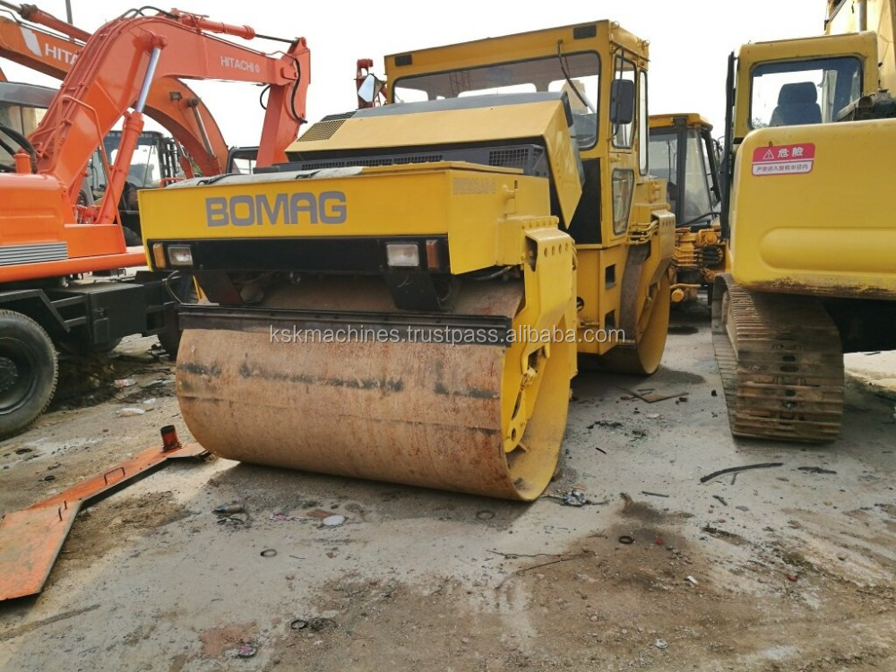 Used road roller BOMAG BW202 Used compactor BOMAG BW 202 AD-4 - Heavy Articulated Steered Tandem Rollers