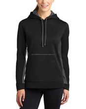 2016 Pakistan Hot Sale Hooded Sweatshirt Ladies Plain Black Hoodie Zip Up