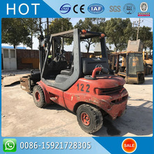 Side Shift And Middle Cylinder H30D 3 Ton Used Linde Forklift With Bale Clamp