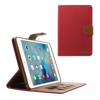 MERCURY GOOSPERY Canvas Leather Protective Case for iPad Mini 3/2/1 - Red