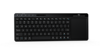 DroidBOX i18 Wireless Keyboard with Large Size Touchpad Mouse Stainless Steel Cover and Build in Recharge LiOn
