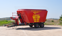 Vertical Feed Mixer 20 m3 Double Auger Cattle Feed Mixer