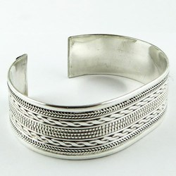 Beautiful Natural !! Plain Silver 925 Sterling Silver Bangle, Wholesale Silver Jewelry, Sterling Silver Jewelry