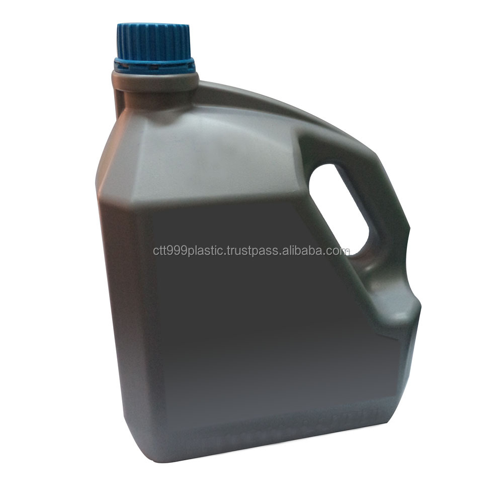 4L, 5L high quality HDPE, PP lubricant engine oil grease plastic bottle with cap