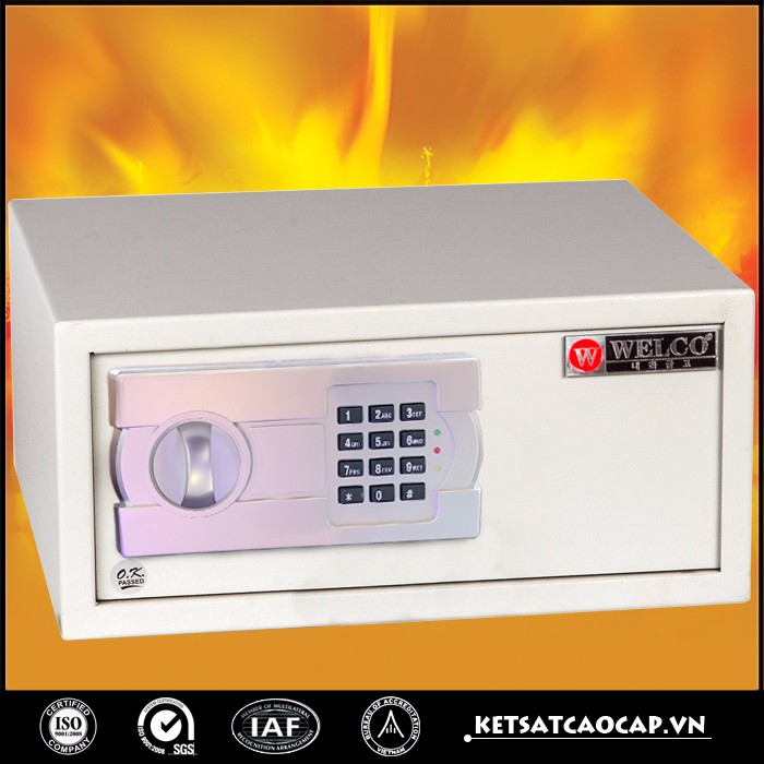 WELKO Mini fireproof safe box for office/home/hotel used