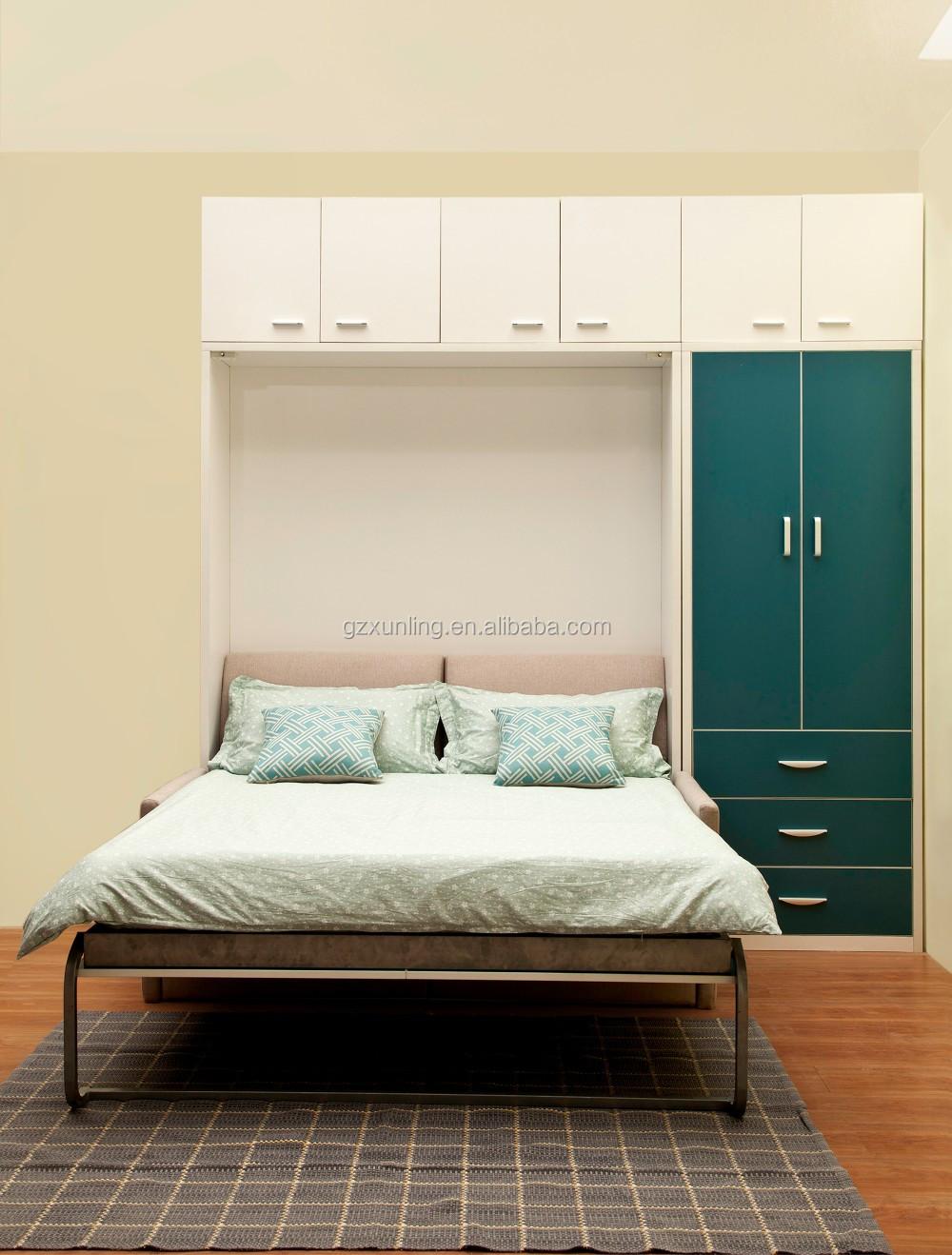 Platzsparend Doppel Murphy Wand Bett mit Front Sofa und ...