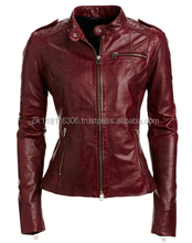Hot Fashion Women Faux Leather Trench Splice Jacket