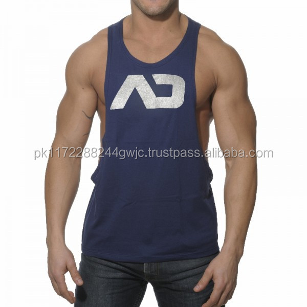 OEM Mens Sport Cotton Tank Top,Stringer Tank Top,Gym Tank Top/Gym Singlets Mens Tank Tops Stringer Bodybuilding and Fitness