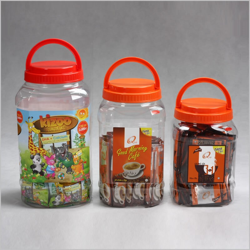 Apple shape PET Plastic Jar for food# Duy Tan Plastic in Vietnam