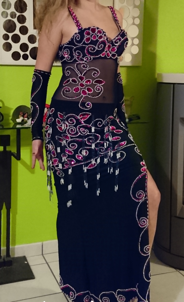 Sexy Egyptian professional belly dance costume, Bellydance Dress Custom-made New (LUX.B.BLK.2)