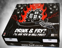 Customized disposable Printed Pizza Box, any design can be made, Paypal accepted