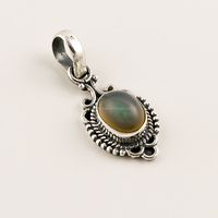 925 Sterling Silver Pendant Natural Opal