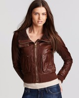 2016 ladies pure leather jackets wholesale for women fashion apparel