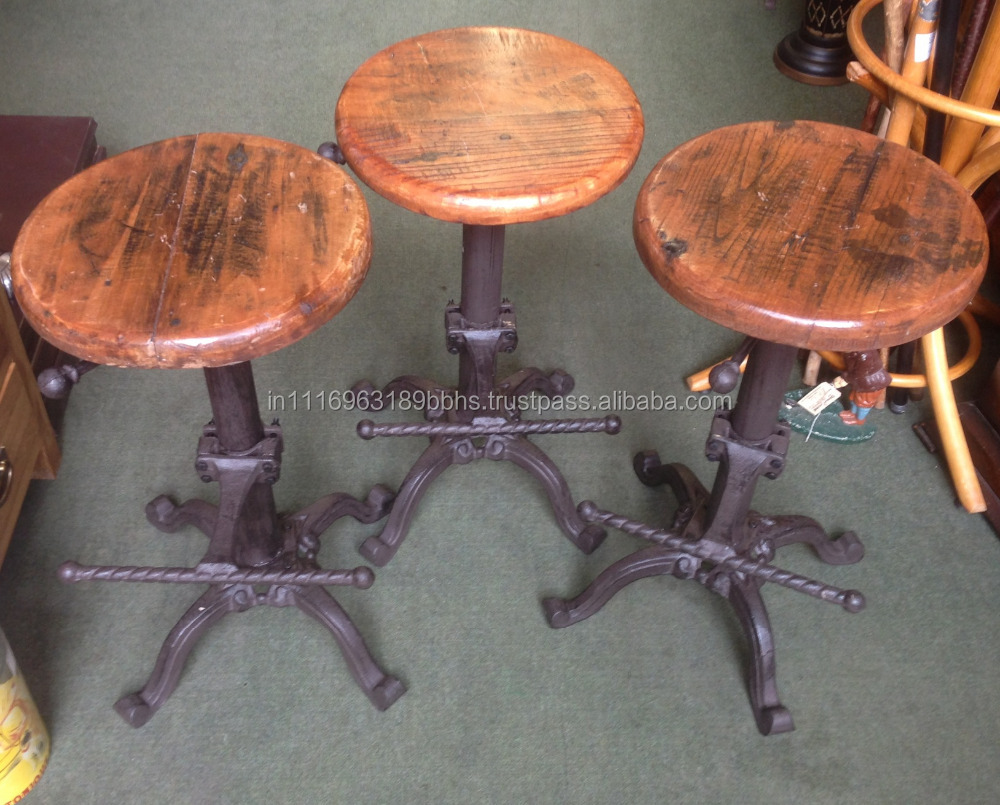 Indusrial Cast Iron bar stool