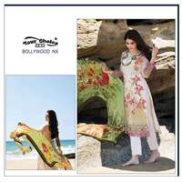 Bollywood Nx Lawn Cotton Unstitched Printed & Embroidered Pakistani Style Salwar Kameez Designs For Stitching