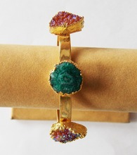 Multi Druzy <span class=keywords><strong>Braccialetto</strong></span> Del <span class=keywords><strong>braccialetto</strong></span> con oro Placcato
