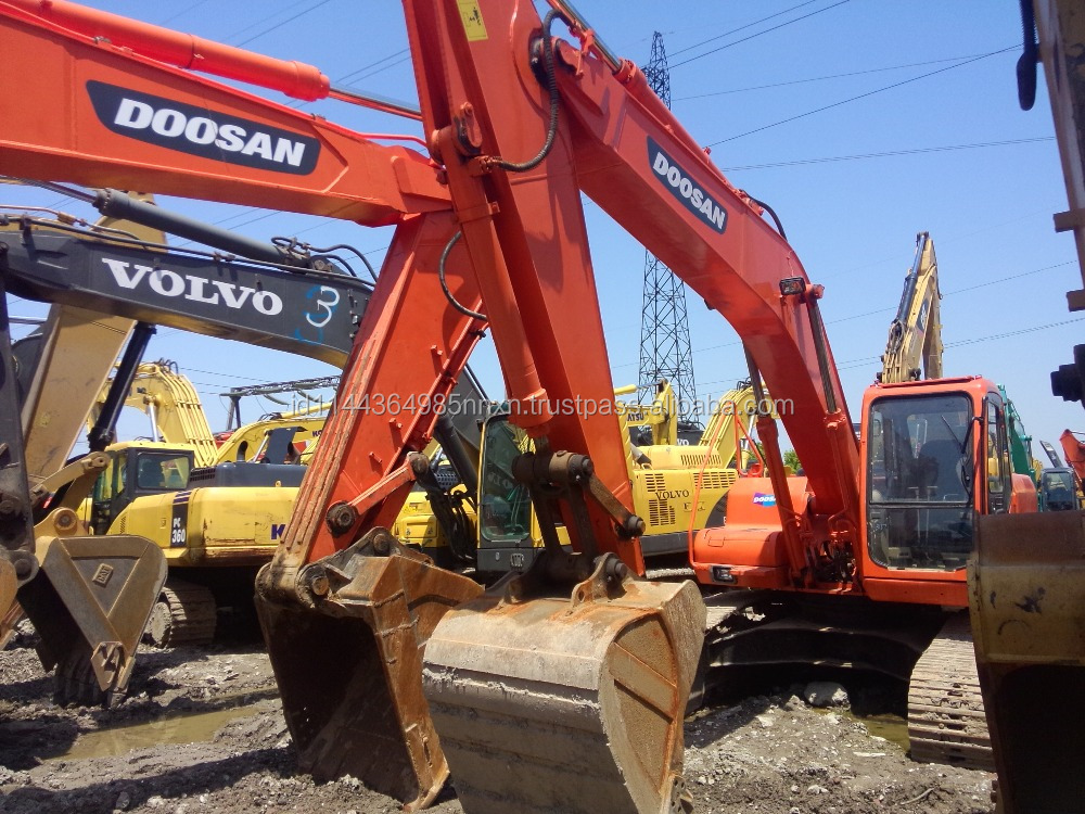used Doosan excavator DH220LC-7 Korea crawler excavator good performance hot sale in Shanghai