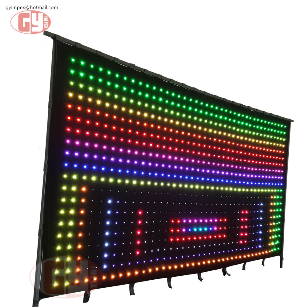 p9 flexible led light curtain