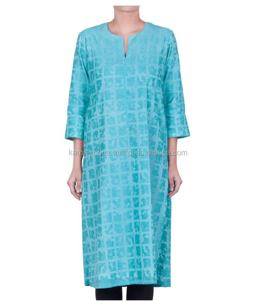 Tunic Girls wear long kurtis / Formal design printed ladies wear / Cotton fabric printed kurtas