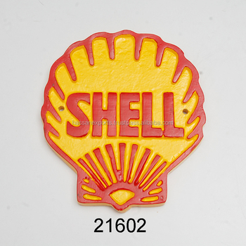 Supplier of Cast Aluminium wall sign/ indoor wall sign/ SHELL wall sign