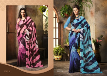 Designer Different Printed ArtSilk saree With Blouse Material