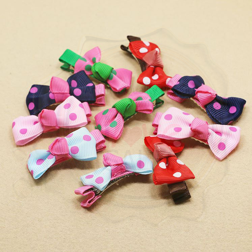 Polka Dot Bow Children's Hair Clip/Hair Accessory