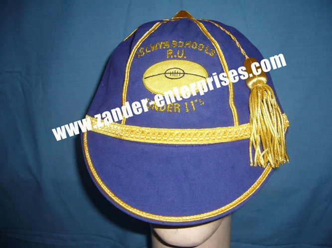 Best quality production for rugby honours caps quality hand made embroidery