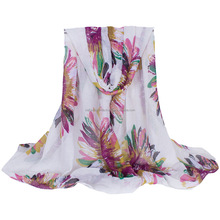 2017 geometric figures design printed polyester scarf
