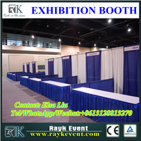 New products 10ft trade show booth aluminum portable used pipe and drape for sale