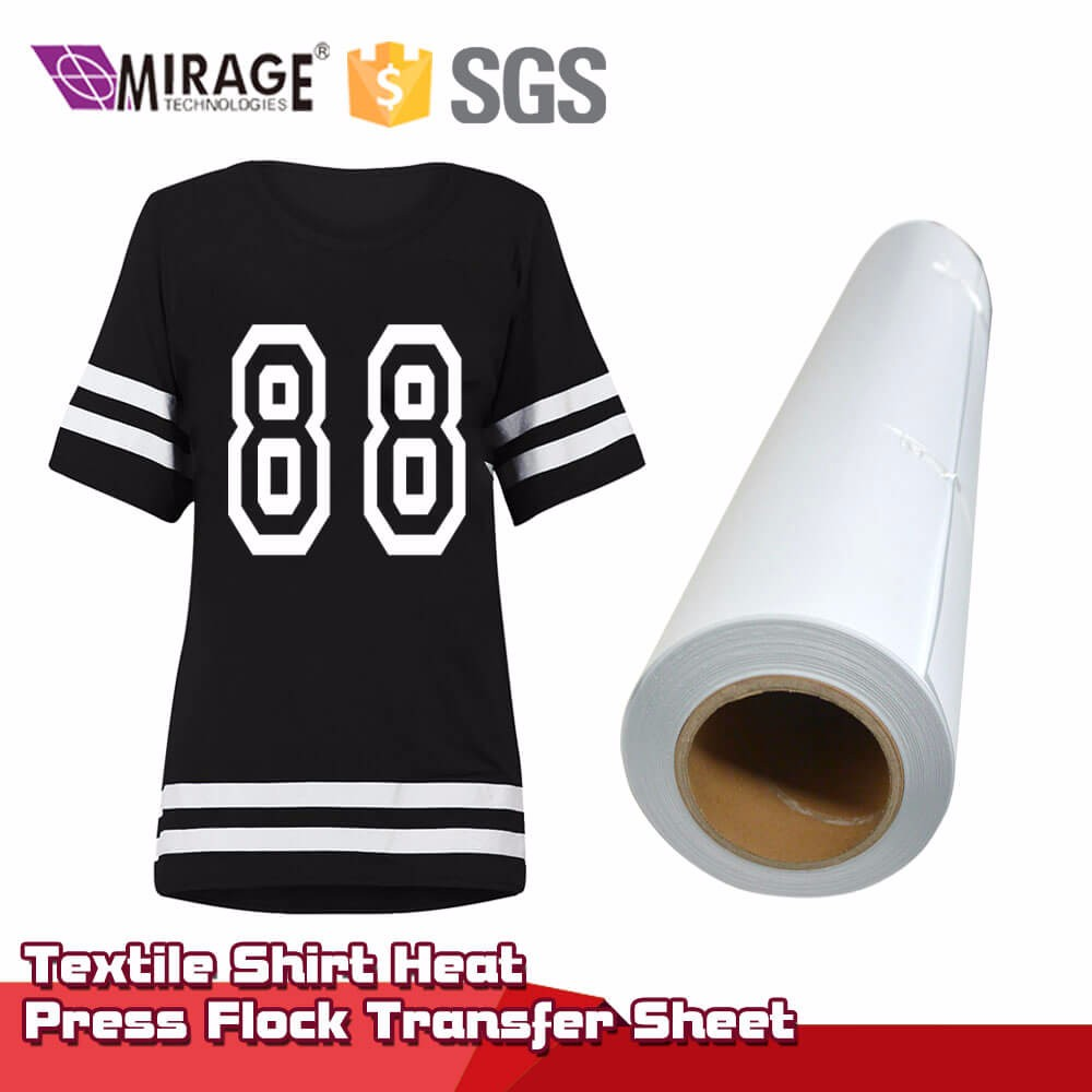 Textile Shirt Heat Press Flock Transfer Sheet