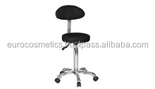STOOL WITH BACKREST, BLACK COLOUR for beauty salon