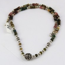 Genuine Gemstone Tourmaline 925 Sterling Silver Necklace, Gift Silver Jewelry, Handmade Silver Jewelry
