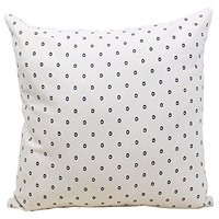 Store Indya Set of 2 Cotton Throw Pillow Cover Cushion Covers with Spot Patterns Cases for Sofa - Bedding Accessories (18 x 18)