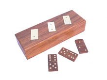 Dominoes wooden game set