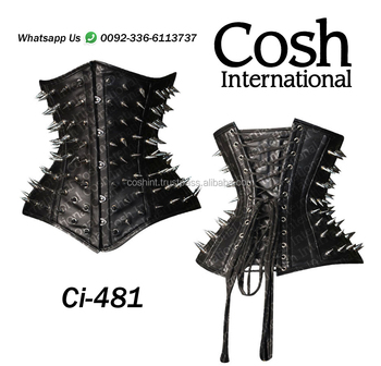 COSH INTERNATIONAL : Ci-481 Black Fetish And Bondage Leather Corset Supplier & Maker