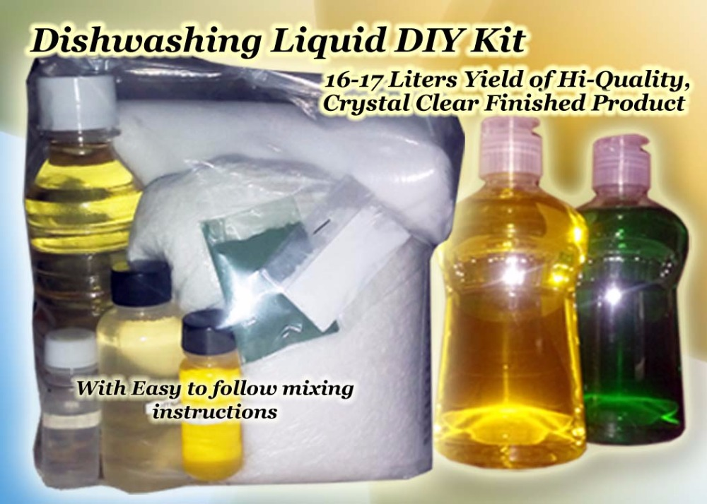 Dishwashing Liquid, Fabcon, Detegent Powder, Handsoap Do-It-Yourself Kit